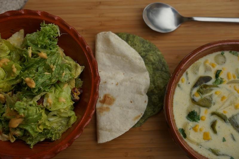Food 6 031 copy Green Salad with Guava Vinaigrette & Roasted Poblano Soup
