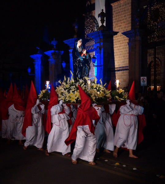 Procession of Silence in Morelia