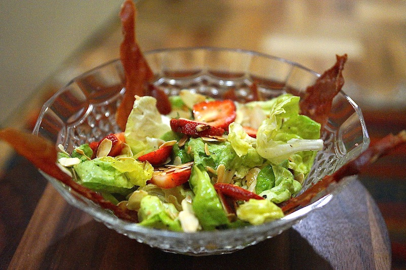 Strawberry Salad with Almonds & Jamon Serrano Food 2 030