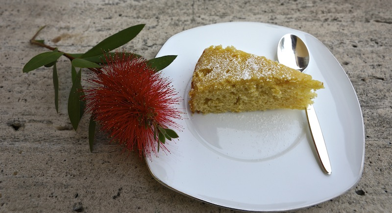 Orange Cardamom Sour Cream Cake