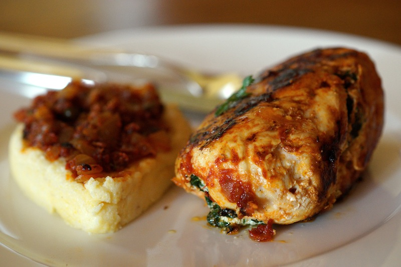 Chicken Breast stuffed with Ricotta and Spinach