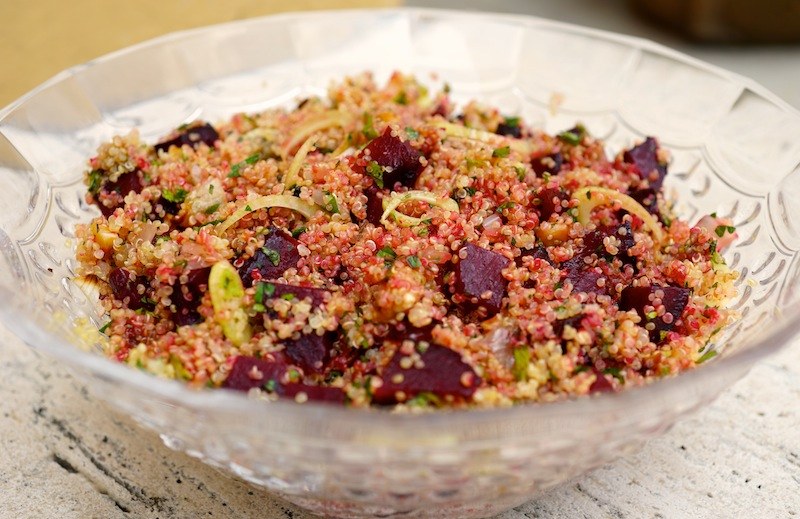 Quinoa Salad with Roasted Beetroot