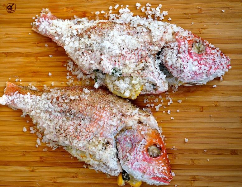 Red Snapper Baked in Salt