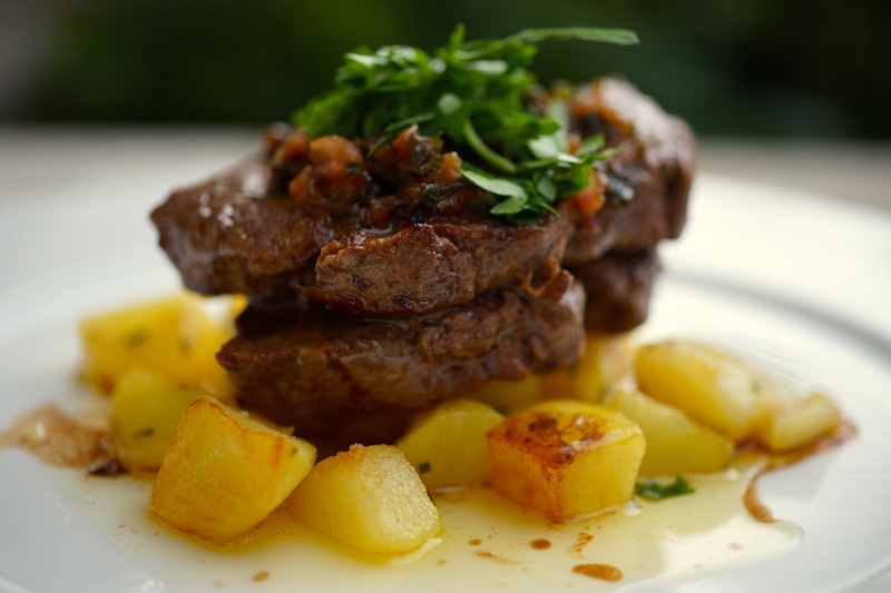 Parsley Beef Medallions with Rustic Potatoes