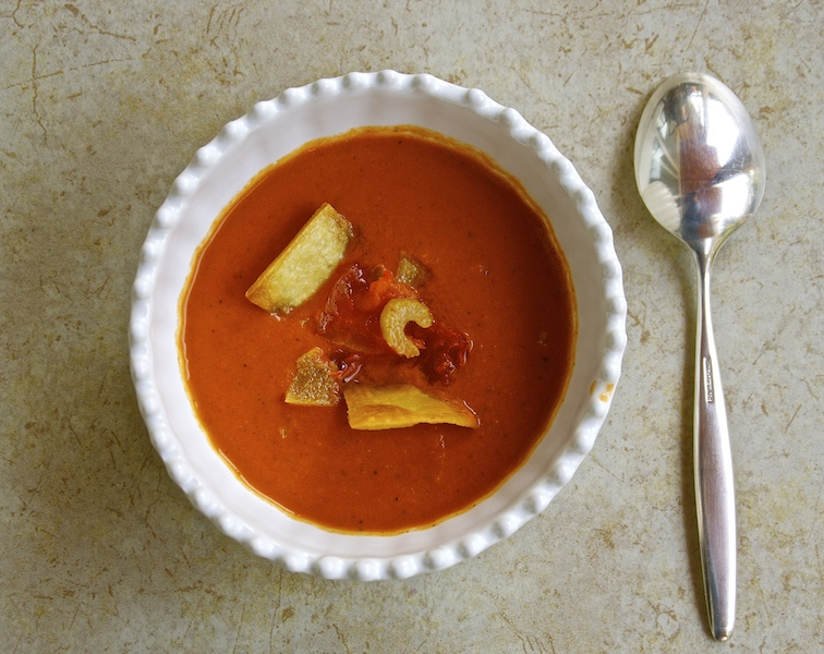 Roasted Mexican Tomato Soup