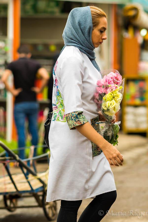 Postcards from Tehran: Mahallati Flower Marke